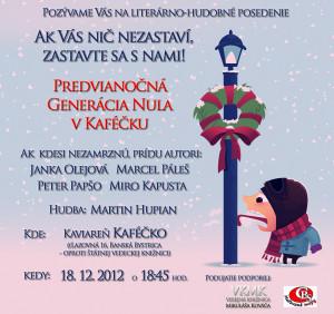 G0 v Kaféčku 18. 12. 2012