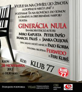 Generácia Nula v Klube 77 (28. 11